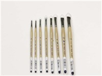 DAS 9680 White Taklon Filbert Brushes