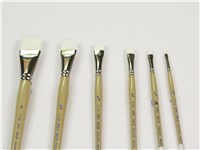 DAS 9860 White Taklon Square Wash Brushes