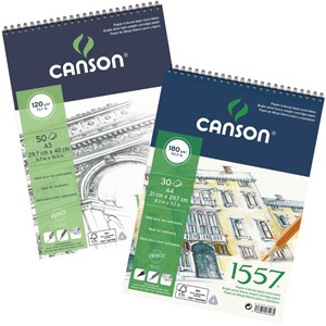 CANSON 1557 S/PAD A4 120G (50SH)