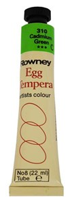 ROWN EGG TEMPERA 22ml CADMIUM GREEN